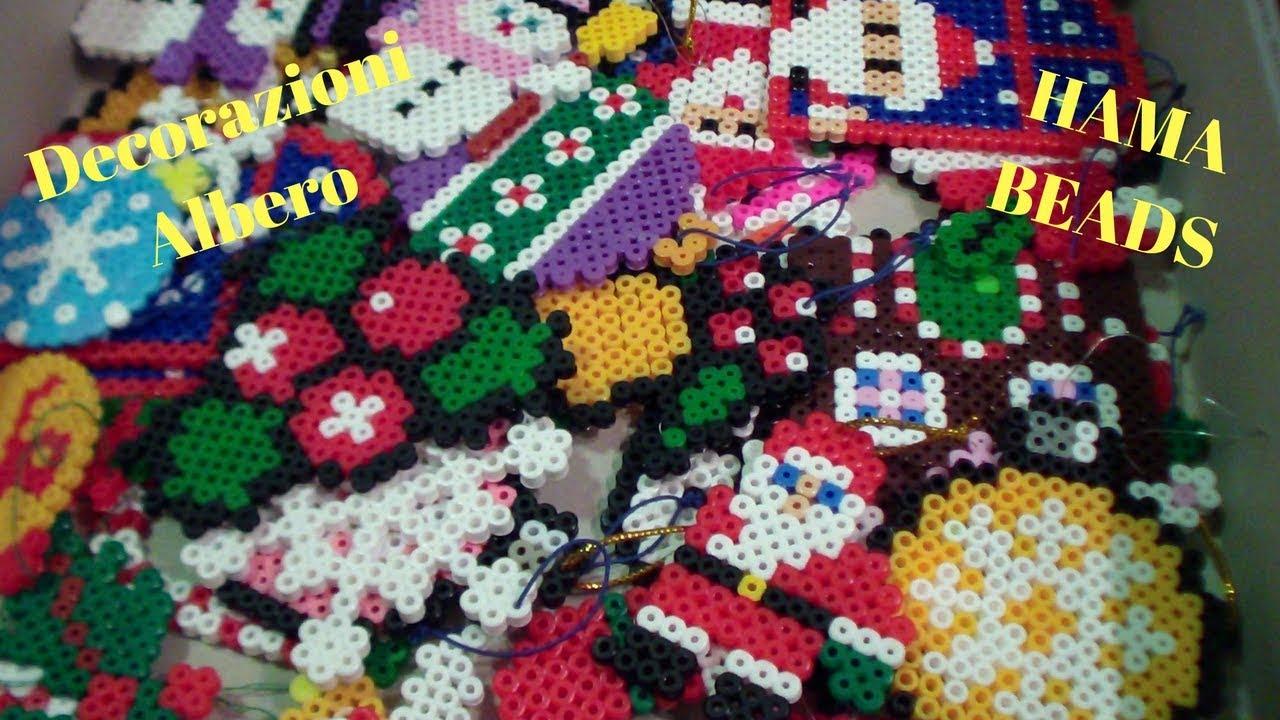 Decorazioni natalizie hama beads pyssla youtube for Youtube decorazioni natalizie