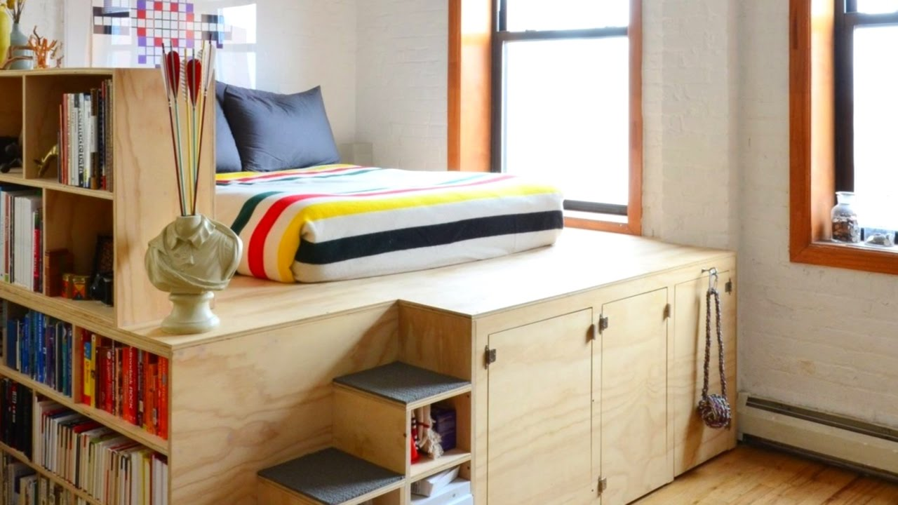 16 tiny apartments in new york city part 2 youtube. Black Bedroom Furniture Sets. Home Design Ideas