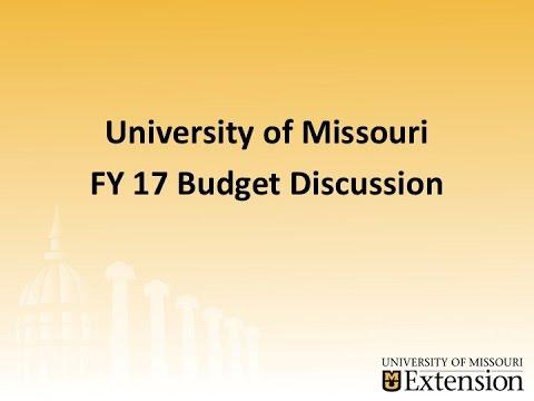 University of Missouri Extension Budget Forum 5-13-16