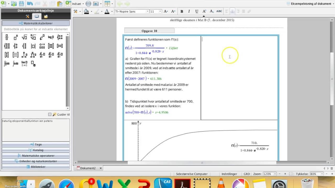 Mat B2 - Differentialregning, eksponentialfunktion og asymptote