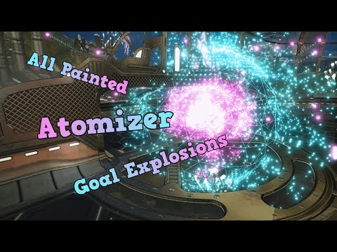 All Painted Atomizer Goal Explosions - Rocket League
