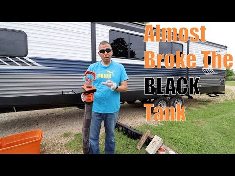 How we clean our RV black tank