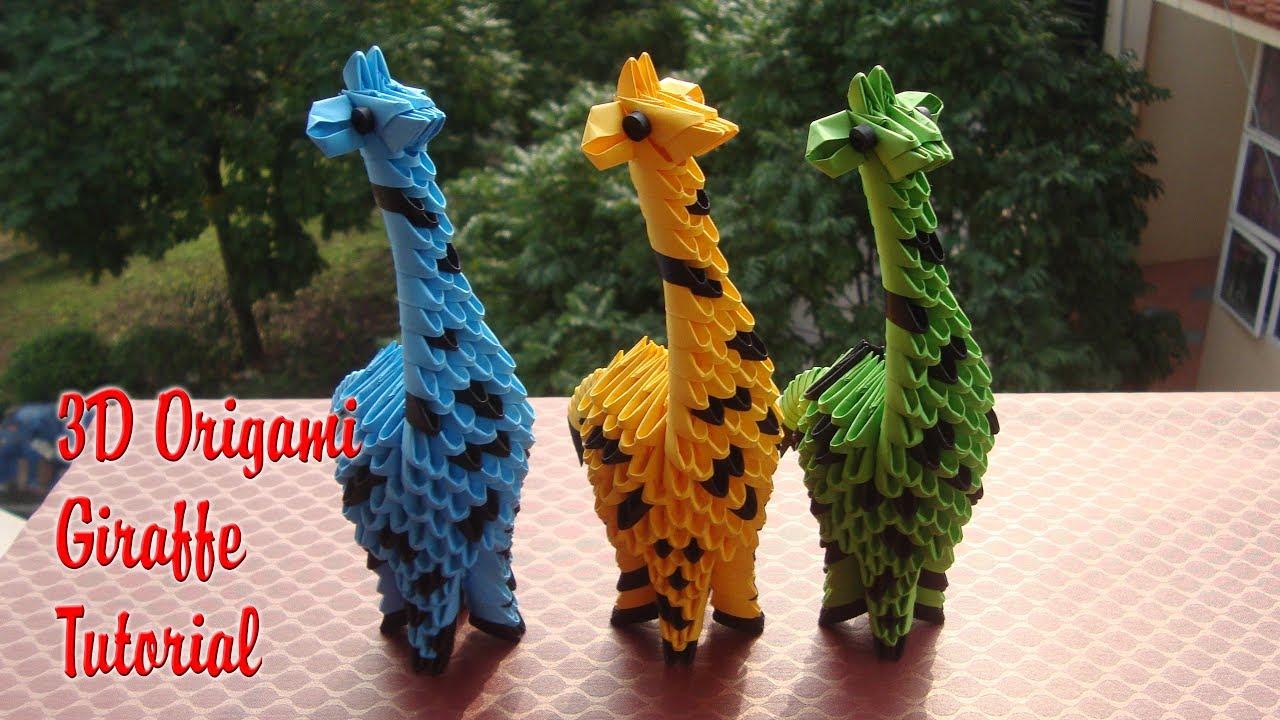 How To Make 3d Origami Giraffe Diy Paper Giraffe Toy