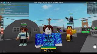 Playing Zombathon on roblox