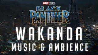 Black Panther Music & Ambience | Wakanda - The Golden City Nighttime Thunderstorm