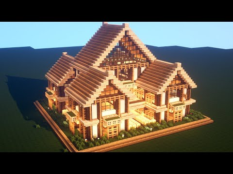 Easy Minecraft Large Oak House Tutorial How To Build A Survival House In Minecraft 37 Youtube