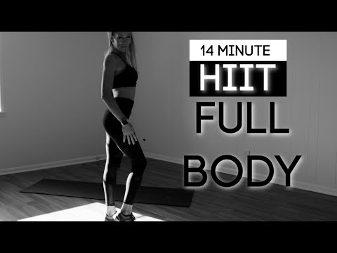 14 Minute HIIT - At home - FULL BODY WORKOUT Body weight/No equipment