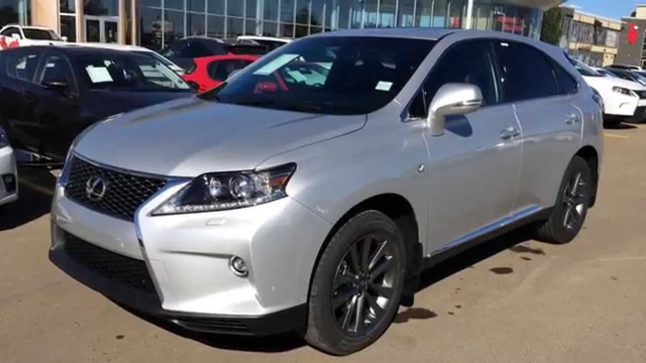 new silver on black 2015 lexus rx 350 awd - f sport package review