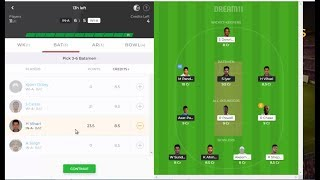 IN A vs WI A Dream11 Team in Tamil || West Indies A vs India A, 2nd Unofficial ODI || 14/07/2019