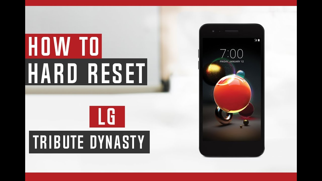 How to Restore LG Tribute Dynasty to Factory Settings - Hard Reset