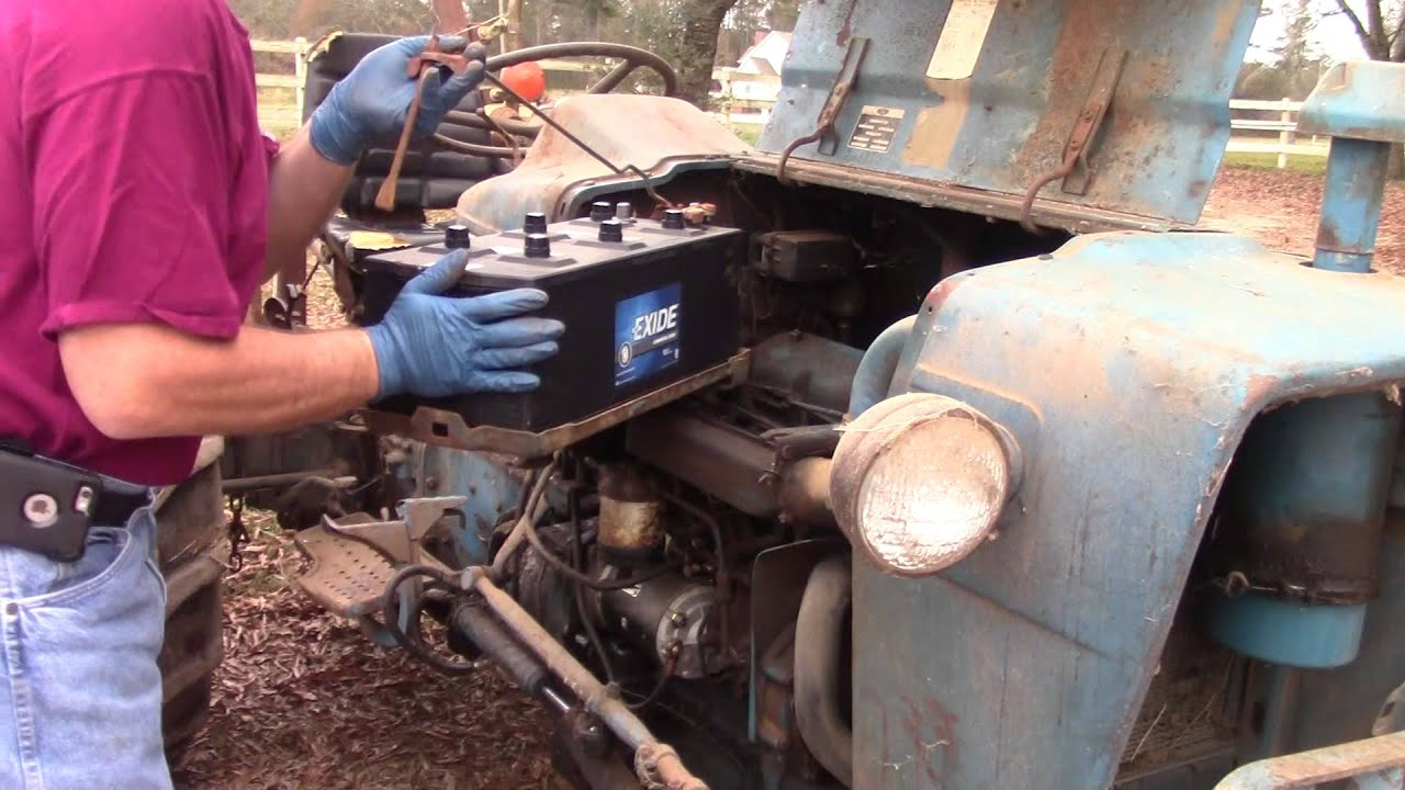 1974 Ford 3000 Battery Replacement - YouTube