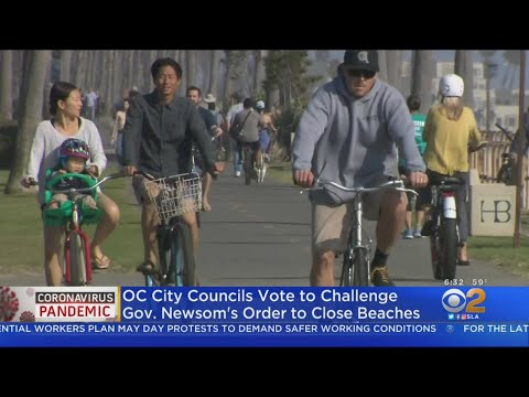 OC Residents Say They Will Defy Governor's Beach Closures