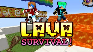 MINECRAFT LAVA SURVIVAL | ENDER CUTENESS MAP | RADIOJH GAMES & GAMER CHAD