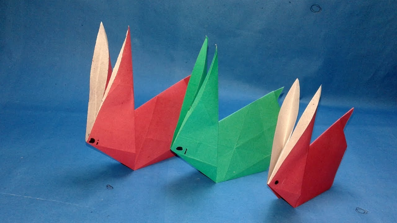 origami animals how to make origami rabbit easy