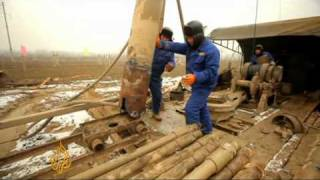 Chinese dig deep for water