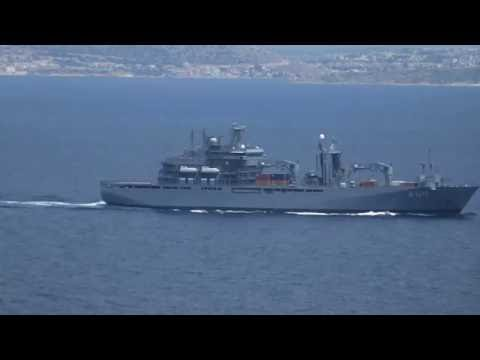 German Navy FGS Bonn A1413 Flagship SNMG2 patrolling the Aegean sea.
