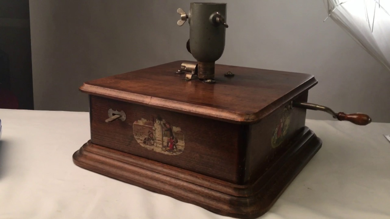 Antique christmas tree stand music box youtube
