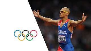 Felix Sanchez Wins 400m Hurdles Gold - London 2012 Olympics