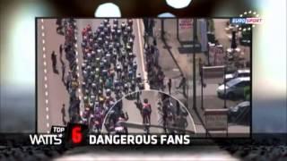Велоспорт. 10 самых опасных завалов, спровоцированных зрителями