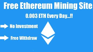 Free Ethereum Mining Site 2020