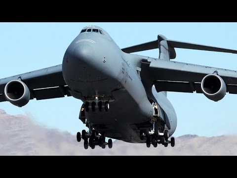 massive lockheed c 5 galaxy departure us air force youtube