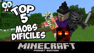 Top 5 mobs Mas Dificiles de Minecraft pocket edition 0.15.0