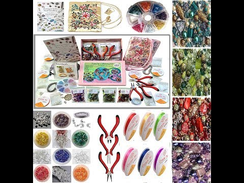 Online Art Classes   Introduction of DIY and Jewelry Making Material and Haul   Step by Step