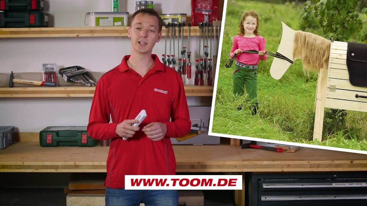toom kreativwerkstatt – diy: holzpferd für kinder selber bauen - youtube