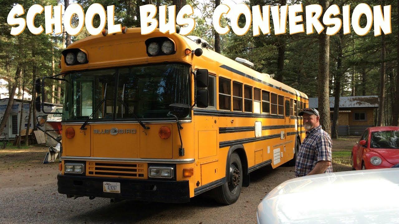 bus to rv 1994 blue bird school bus conversion part 2 youtube