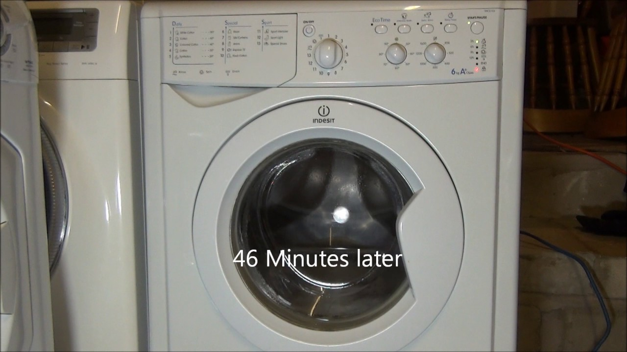 indesit start iwc6165 washing machine drum cleaning on cotton 90 39 c mini load youtube. Black Bedroom Furniture Sets. Home Design Ideas