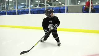Five year old PowerSkating Academy student