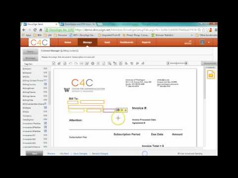 Creating a new Docusign Template