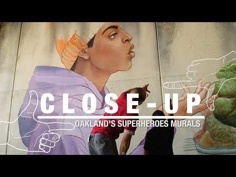 Spirit of Fallen Artist Rises in Oakland Super Heroes Mural Project  | KQED Arts