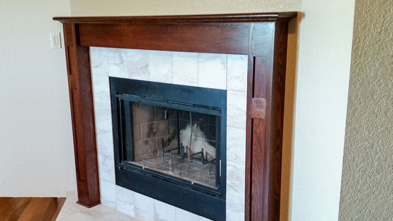 Building A Fireplace Surround and Mantel - YouTube