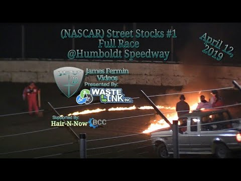(NASCAR) Street Stocks #1, Full Race, Humboldt Speedway, 04/12/19