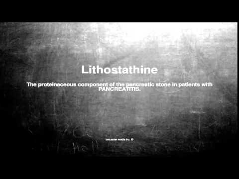 Medical vocabulary: What does Lithostathine mean