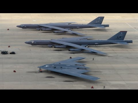 RAW B1 B52 B2 Nuclear Bombers Fly Over - YouTube B1 Lancer Supersonic