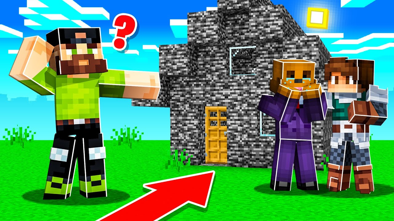 FRAMING HIM with BEDROCK HOUSE PRANK  in Minecraft!