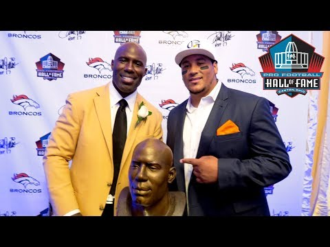Terrell Davis raps with TheMadFanatic at Hall Of Fame Party