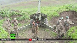 На линии огня: корреспондент RT побывал в зоне боевых действий в Нагорном Карабахе