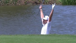 Kyle Reifers overcomes his challenging shot on No. 17 at Zurich