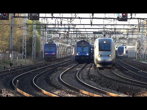 Les trains de Paris-Gare de Lyon et Bercy en time-lapse
