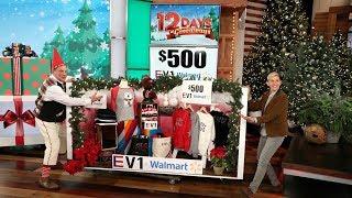 Jeff Garlin Is Elfin' Good As He Helps Ellen with Day 8 of 12 Days!