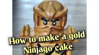 How to make a gold ninjago cake
