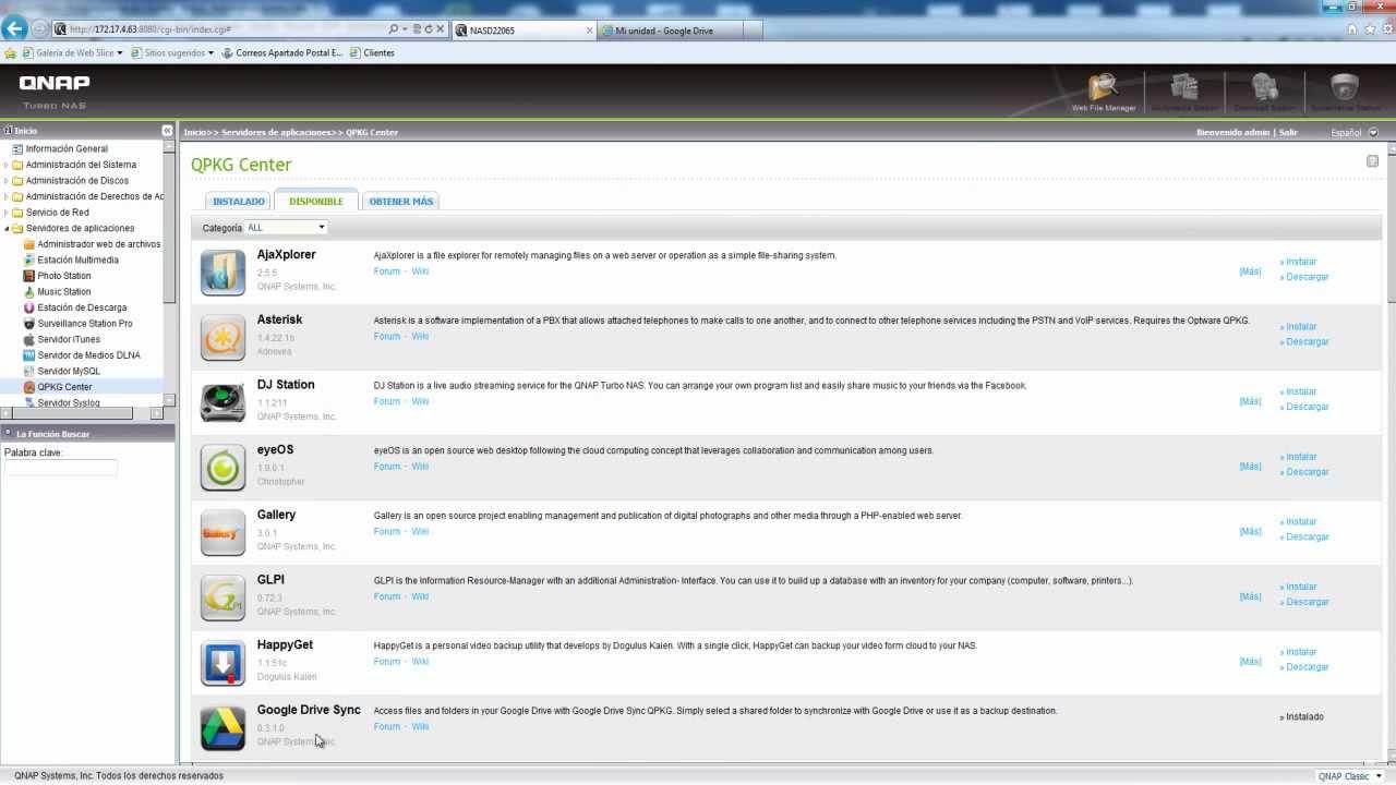 Presentacion y demo QNAP Google Drive Sync