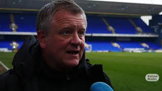 Chris Wilder's Ipswich reaction