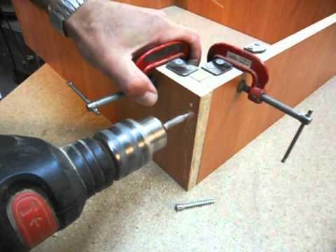 Сборка мебели с самодельной струбциной Часть 1. Homemade right angle clamp. Part 1.