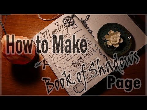 How To Make An Aesthetic Yet Usable Book Of Shadows Page