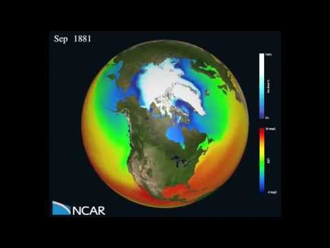 Watch Arctic sea ice vanish by 2100 - NCAR Computer Model Visualization