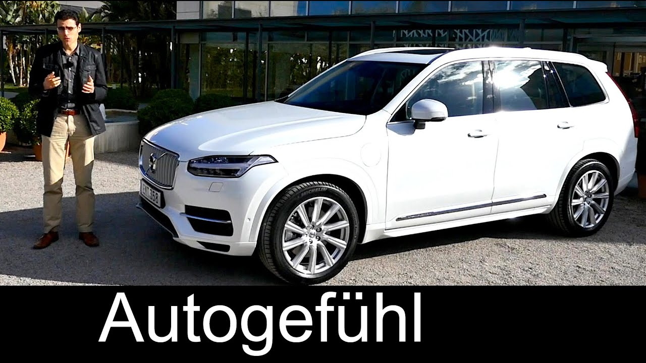 All new volvo xc90 t8 plugin hybrid twin engine inscription trim review test drive autogef hl youtube